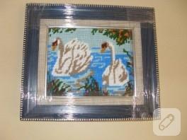 Goblen tablo: hüzünlü kuğular