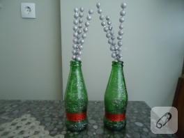 Soda şişesinden vazo