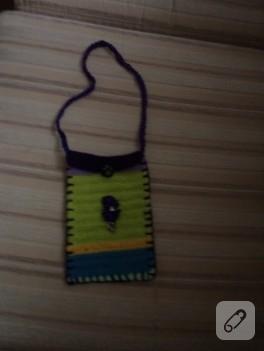 Sık iğne ile kese şeklinde çanta