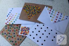 Çocuklarla faaliyet: sulu boya ile zarf süsleme