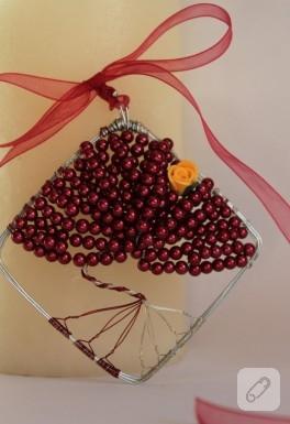 Ağaç temalı kolyem (kırmızılar içinde)