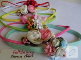 Bebek saç bandı – Çiçek Bahçesi feltdesign'dan