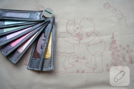 nakış işlemeli bebek battaniyesi