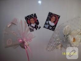 Düğün davetiyesinden buzdolabı magnetleri