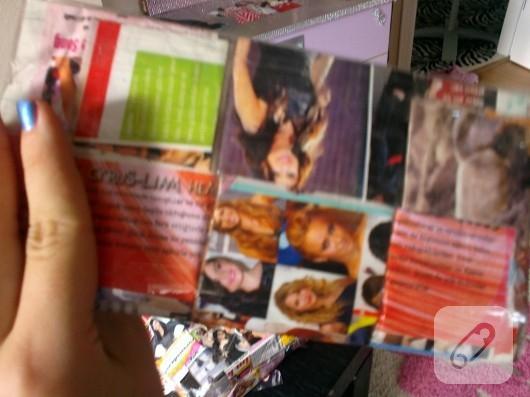 dergi sayfalarından cüzdan
