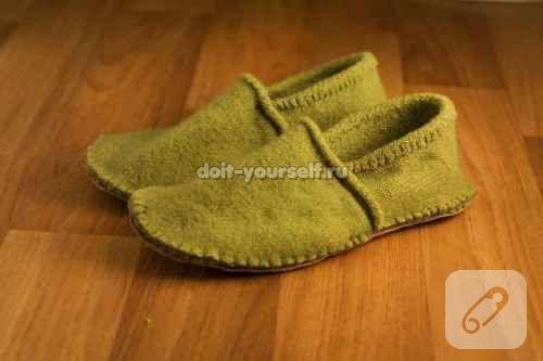 Kazaktan ev ayakkabısına dönüşüm