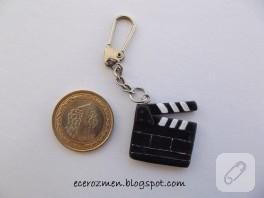 Minyatür klaket anahtarlık