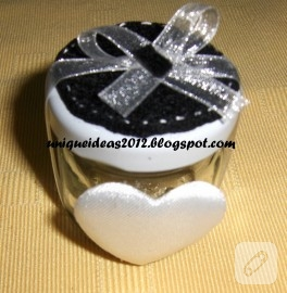 Şirin nikah şekeri kavanozu