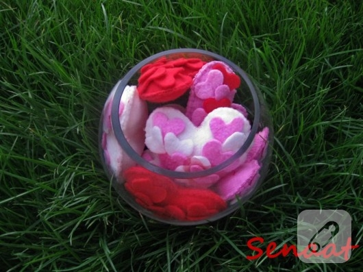 kumaş kalpler