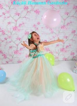Örme model tütü elbise