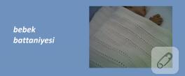Şeritli bebek battaniyesi