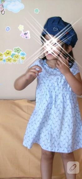 Artık kumaşlardan kız çocuk elbisesi