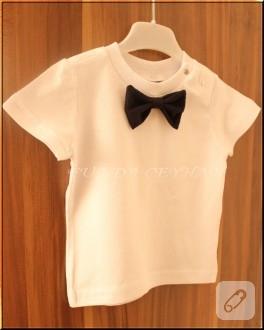 Papyonlu bebek tişörtü