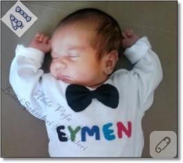 Bebeğimin ismine özel keçe body