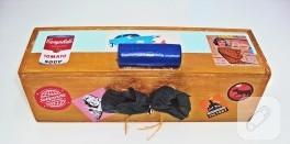 Vintage – pop art uygulamalı ahşap eskitme kutu