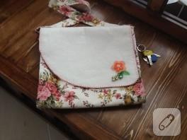 Keçe ve kumaştan okul çantası