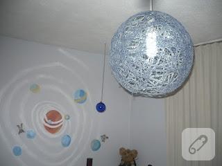 Çocuk odasına ip lamba