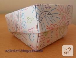 Origami ve boyama kağıt kutum