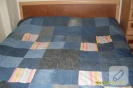 Eski kotlardan yatak örtüsü yaptım