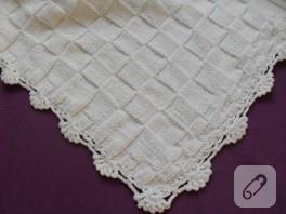 Sade bebek battaniyesi