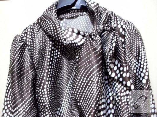 Fiyonk yaka bluz