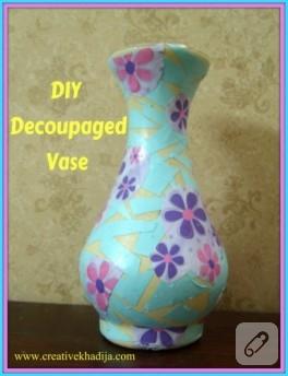 Diy: vazoya dekupaj
