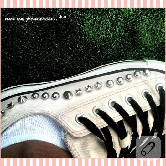 Zımbalı beyaz converse