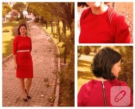 Ziyadesiyle kırmızı bir elbise!