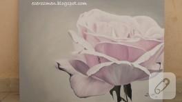 'Pembe gül' yağlı boya tablo