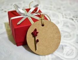 Origami hediye kutuları ve kartları