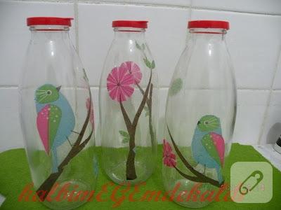 şişeye dekupaj