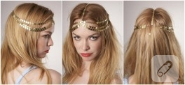 Altın pullu saç aksesuarı yapımı