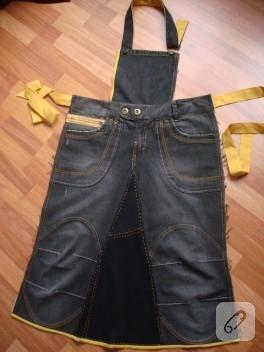 Eski kot pantolondan önlük