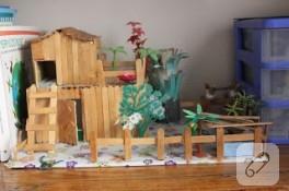 Dondurma çubuklarından maket ev – 2013 yılbaşı yarışması