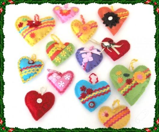 keçe lavantalı kalpler