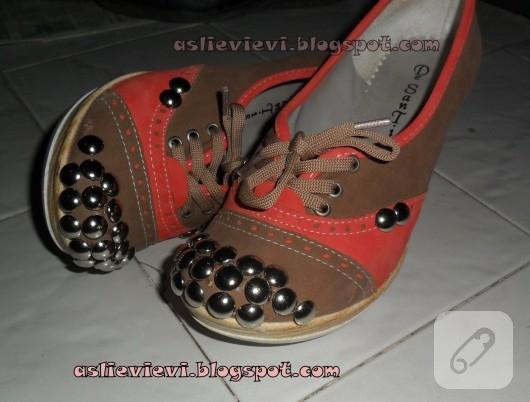 Raptiye ile ayakkabı yenileme