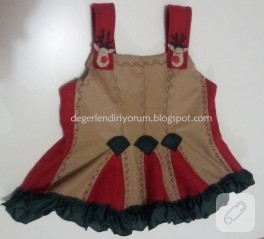 Yılbaşı bebek elbisesi