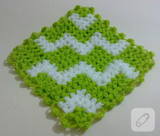yeşil beyaz örgü lif