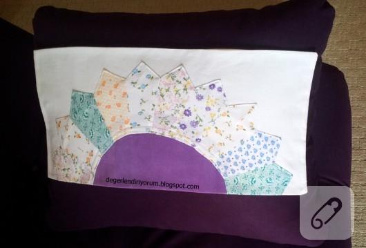 patchwork yastık kılıfı