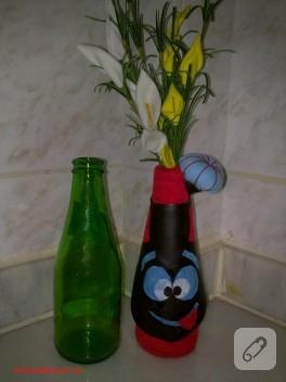 Soda şişesinden vazoya geri dönüşüm