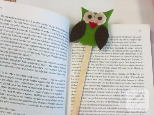 Baykuşlu kitap ayracı