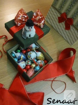 Yeni yıl hediyesi el yapımı kutu