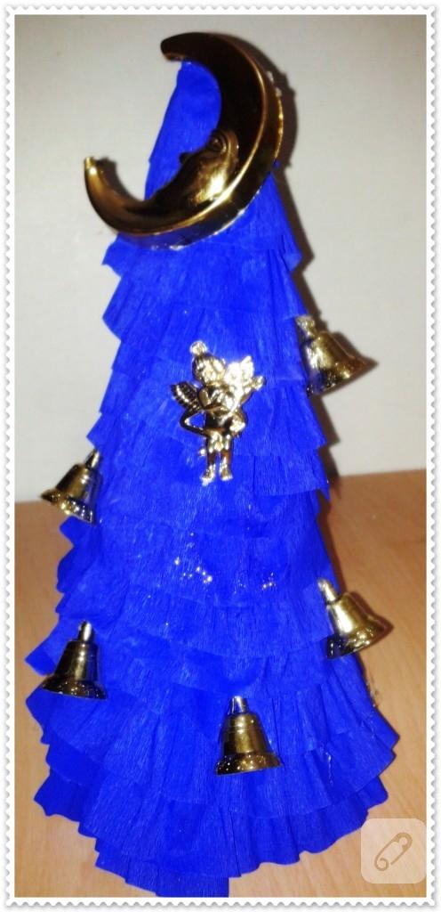 Krepon kağıtlarıyla ağaç