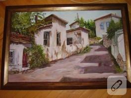 Yağlı boya sokak