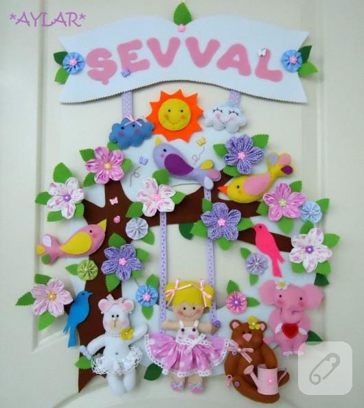 Orman Hayvanları Ile Kapı Süsleme ... : 七夕 飾り 折り紙 切り方 : 七夕