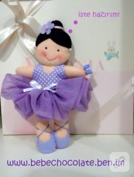 Keçeden lila balerin