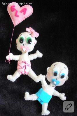 Keçe bebekler