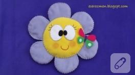 Çiçek gibi polar yastık