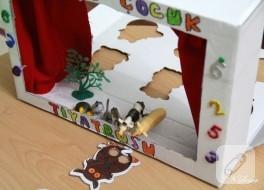 Çocuklar için evde basit tiyatro