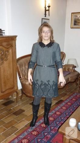 Elbise ve keçe yaka